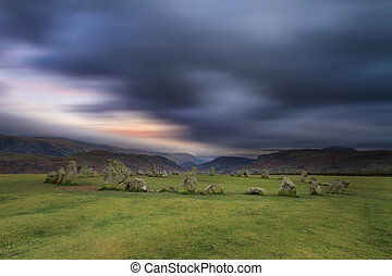 Castlerigg Stone Circle is situated near Keswick in the Lake...