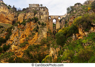 Medieval bridge in Ronda Spain