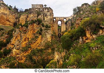 Medieval bridge in Ronda  - Medieval bridge in Ronda. Spain