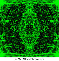 Shiny green wireframes - A long exposure that looks like...