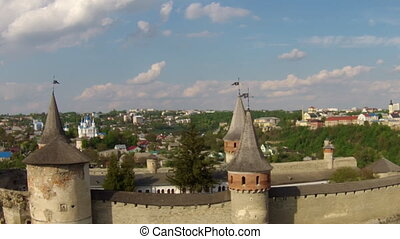 Kamianets-Podilskyi Castle Aerial