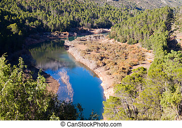 Forest river - Forest river in mountains. Guadalquivir...