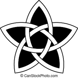 5-point Celtic star knot vector illustration