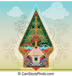 Tree of Life vector - Puppet mountains or the tree of life...