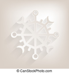 Flat snow Icon with shadow