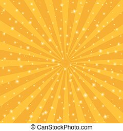 Orange sun vintage background. Rays star burst vector...