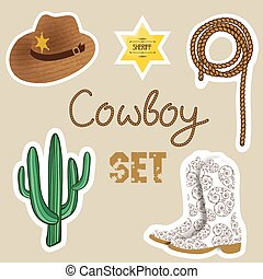 Cowboy poster. Wild west background for your design.