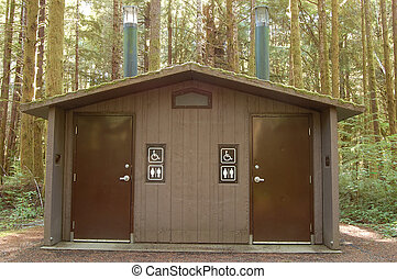 Restroom in camping ground - Public restroom in camping...