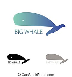 Vector image of a big whale. Whale logo for your buisiness