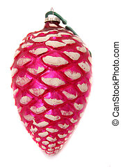 Pink Pinecone Ornament - Pink pinecone ornament with frosted...