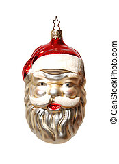 Santa clause ornament isolated on white background
