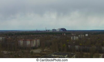 Chernobyl Prypyat Aerial - In the 1970s, the town of...