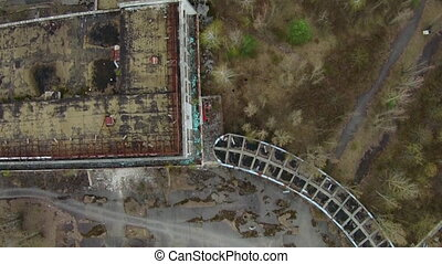 Chernobyl Aerial - In the 1970s, the town of Pripyat, less...