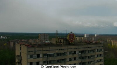 Chernobyl (Aerial) - In the 1970s, the town of Pripyat, less...