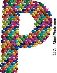 3d font letter P