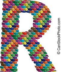 3d font letter R