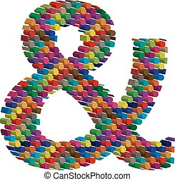 Colorful three-dimensional symbol