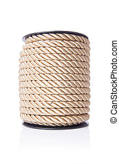 Reel of rope isolated on the white