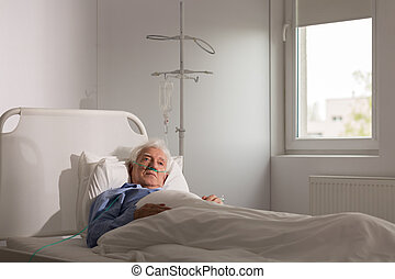Lonely patient in hospital - Lonely sad terminally ill...