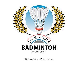 Badminton championship logo event - Logo for sports club ,...