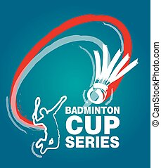 Logo for events badminton match