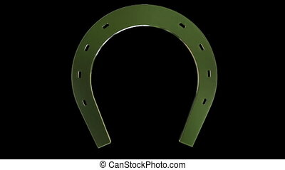 Rotating horseshoe on black