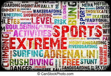 Extreme Sports Grunge Background as a Art