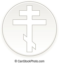 Religious orthodox cross button. - Religious orthodox cross...