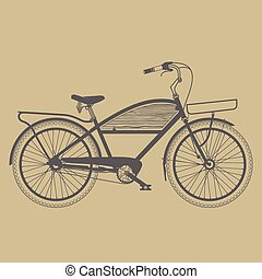 Old classic bicycle vintage