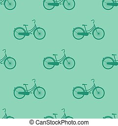 Bicycle seamless pattern Vector illustration