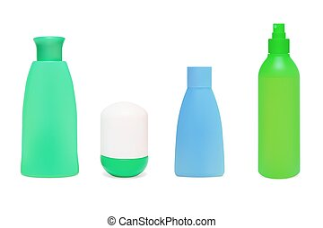 Set of cosmetic bottles Vector illustration