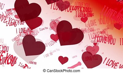 I Love You message with hearts