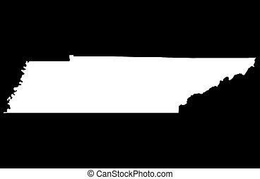 State of Tennessee - balck background