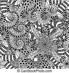 Ornament Pattern - Seamless Abstract Tribal Pattern. Vector...