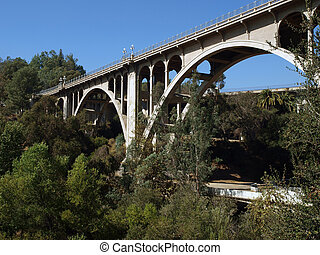 Pasadena Bridge - Historic Colorado Street bridge in...
