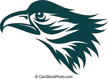Eagle symbol - Engraving stylized Eagle symbol ready for use...