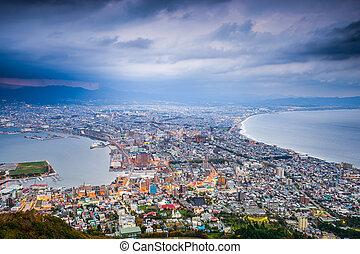 Hakodate Japan Cityscape - Hakodate, Hokkaido, Japan city...