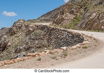 The historic Swartberg Black Mountain Pass The pass is a...