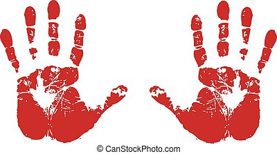 hand prints - This is a design of red hand prints.