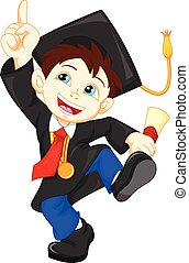 Happy graduate - vector illustration of Happy graduate