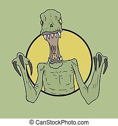 danger reptile draw