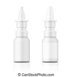 White plastic nasal spray bottle - White plastic nasal spray...