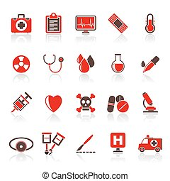 health care equipment icons