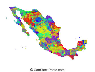 Mexico Watercolor Map. Beautiful Wall Art / Home Decor...