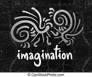 Imagination card - Creative design of Imagination card