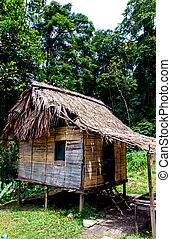 Traditional Hut - traditional small hut seen in Malaysia.