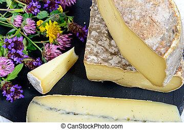 Tome de Savoie - the Tome de Savoie with several flowers