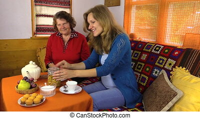 tea afternoon woman table