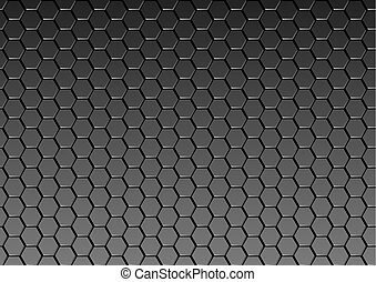 Dark Metal Texture Background - Metallic Pattern, Vector