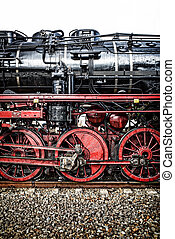 Details Of An Steam Locomotive P 8 - Details einer schwarzen...